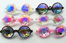 taobao promotion kaleidoscope glasses factory crystal lens kaleidoscope sunglasses party glasses