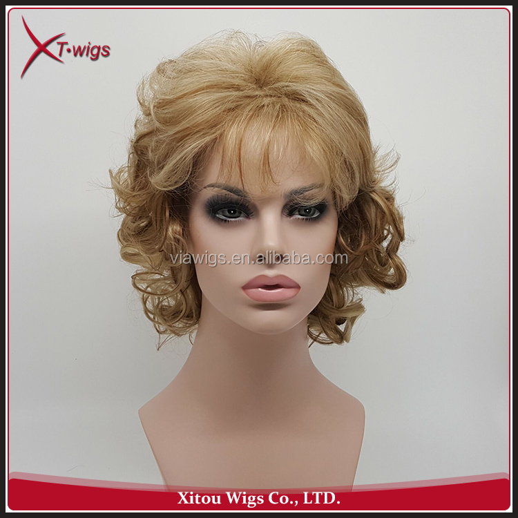 New Arrival Fashion Short Hair Curly Lace Wigs For Black Women