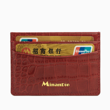 Minandio 2016 Guangzhou cheap leather ID business card case with cheap leather credit card holder for sale