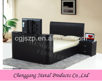 high quality modern bed frame with tv in footboard buy bed with tv in footboard tv bed frame. Black Bedroom Furniture Sets. Home Design Ideas