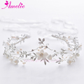 2019 New Handmade Flower and Rhinestone Wedding Dress Tiara Princess Crown Headband