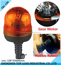 High Quality CE IP 65 Gear Motor Rotating Halogen Beacon Warning Light With DIN Mount Flexible Base