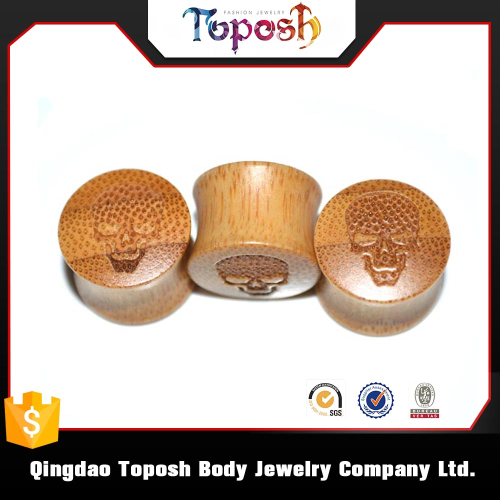 wooden plug body cartilage piercing jewelry wholesale