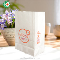 white paper packaging bag for fastfood/ craft paper bag wholesale for uk