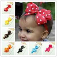 Wholesale bows hair baby hair accessories for kid, sequin bow headwraps