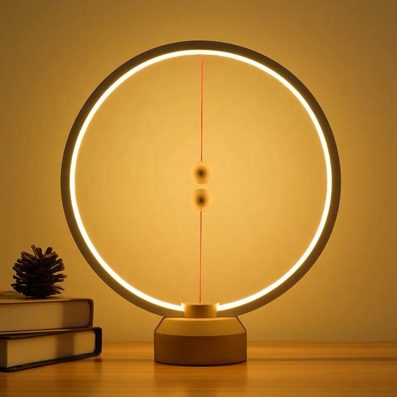 Heng Balance Magnetic switch Lamp Decorative Led Lamp night light creative desk lamp with usb port