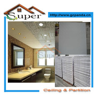 Mould-Proof Multiple Designs White Laminated PVC Gypsum Ceiling