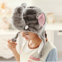 new style cheap animal beanie earflap hat funny winter warm elephant hat