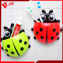 decorative toothpaste holder cute plastic ladybug toothbrush holder