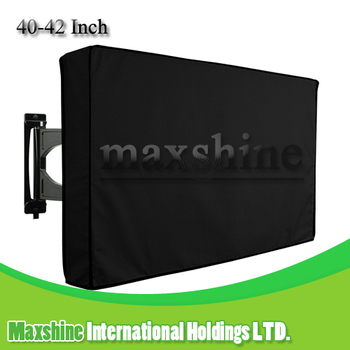Outdoor Black Weatherproof Universal Protector for 40 - 42 Inch LCD , LED , TV Cover