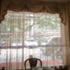 Elegant Hotel Curtain Net/ 100% Polyester Jacquard Pattern Hotel Window Screens