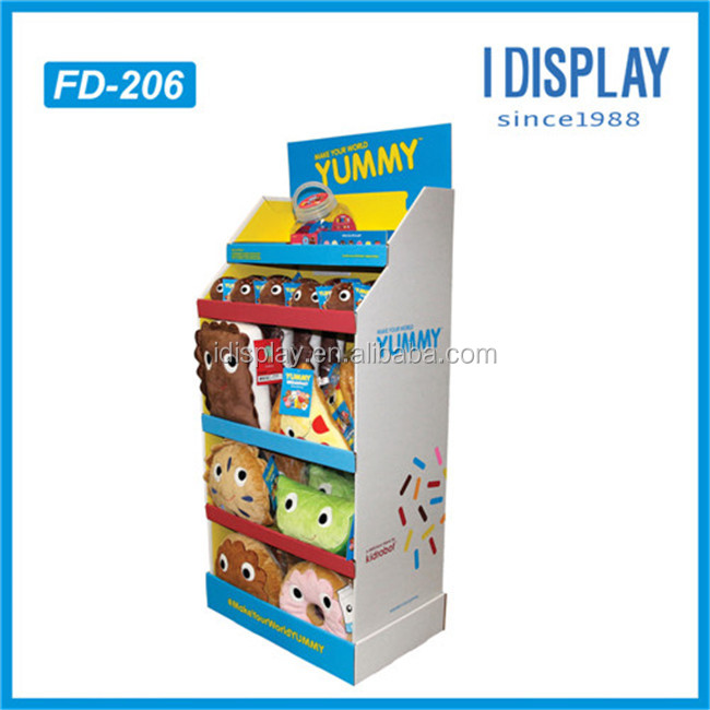 Chinese manufacturer customized pillow/dolls cardboard display racks wholesale