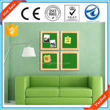 Perfect!Factory supply modern home decorative wooden photo frame memo cork boards,wall size smart soft cork boards with pins use