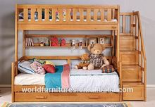 Colorlife bunk bed solid wood with ladder for kids' bedroom