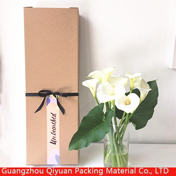Custom brown kraft gift girl 18 inch doll paper packaging box shenzhen with logo print