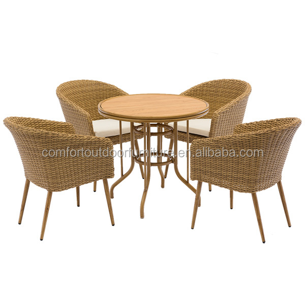 Outdoor Indoor Use Poly <strong>Rattan</strong> <strong>Furniture</strong> Dining Set Four Seats Dining <strong>Furniture</strong>