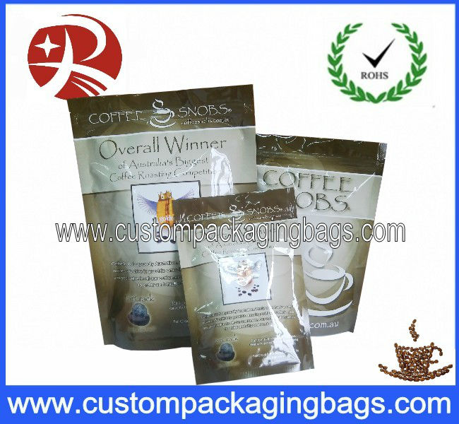 Ziplock Aluminium foil coffee packaging bag with air valve
