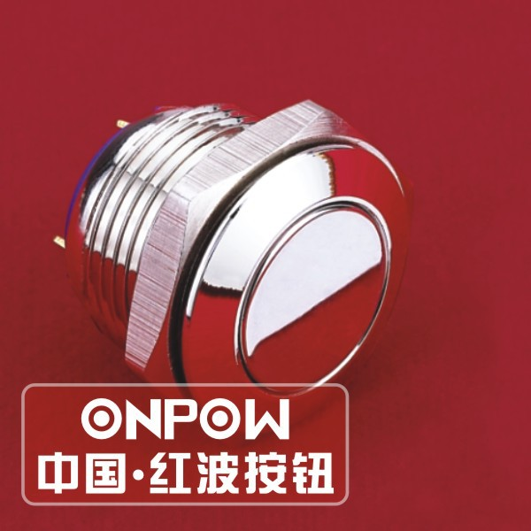 ONPOW 16mm flat head nickel-plated momentary push button <strong>switch</strong>(GQ16F-10/J/N) (Dia. 16mm)(CE,CCC,ROHS,REECH)