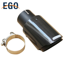 Performance Stainless Steel Glass Exhaust Tips Carbon Fiber Muffler Tail Pipes Cover For Akrapovic Dual Style Universal