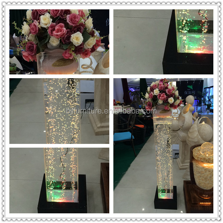 LED acrylic water bubble square tubes wedding decorations