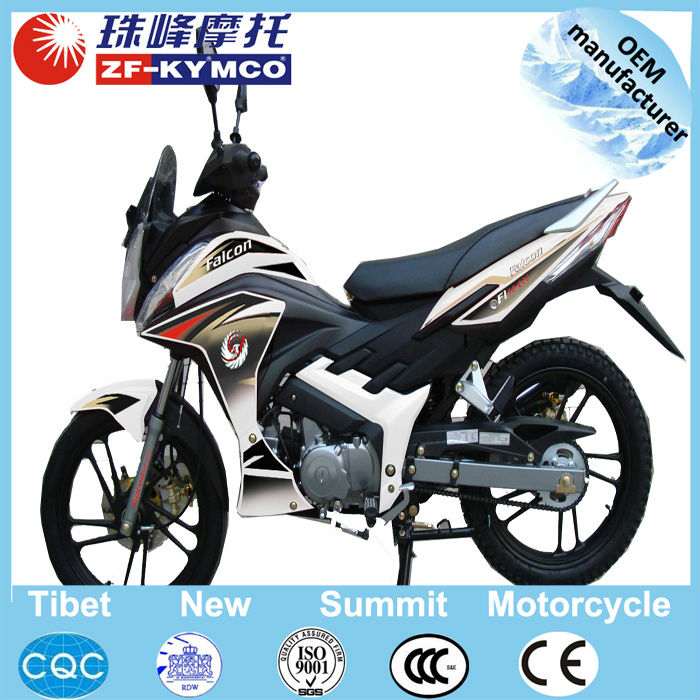 High quality air cooled 125cc automatic motorcycle with double crystal headlight ZF125-3