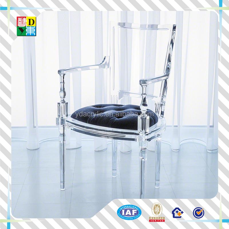 Clear acrylic ghost chair luxury custom acrylic chair with cushion