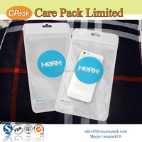Waterproof customized logo zip bag print bag for iphone