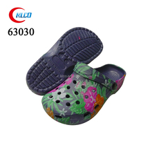 Ladies casual colorful print green eva clogs shoes