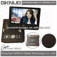 9 inch dvd with folding tv screen portable dvd