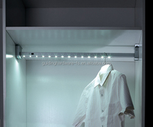 LED wardrobe clothes rail light with battery PIR sensor switch