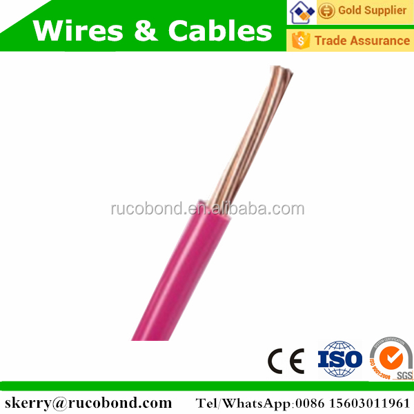 1 core 2.5mm 4mm pvc low voltage power extension electric cable