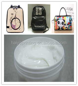 non woven screen printing ink for leather bag
