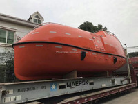 120Persons fire-protective totally enclosed life boat with davit
