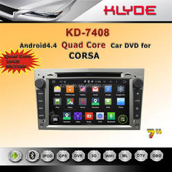 touch screen 4 core HD Bluetooth WIFI DAB+ 16GB android car dvd player for opel corsa