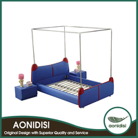 Latest Bed Designs With Low Price OEM Acceptable Baby Bed Junior Bed Cot
