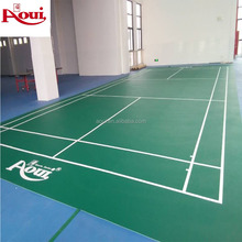 TPU+PVC badminton rubber flooring product by professional manufacturer AOUI