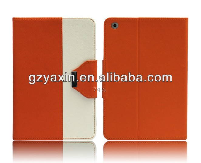 The newest latest leather stand case for mini ipad made in China