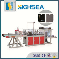 High Sea Machinery full automatic one line making flat bag big bag cutting machine