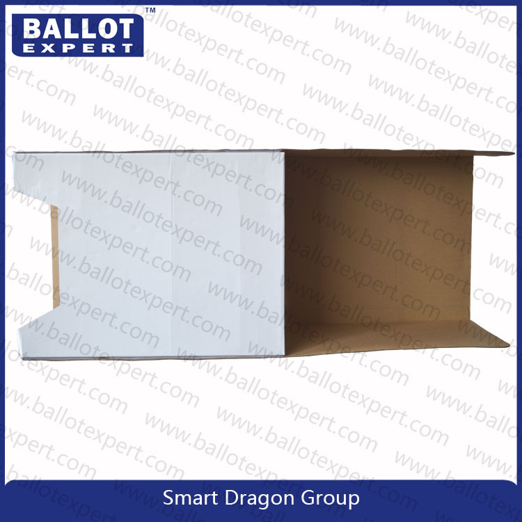 2015 new hot corrugated polling booth cardboard vote table for Trade show poll booth