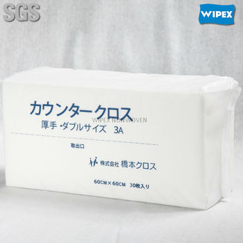 Nonwoven disposable cleaning wipes