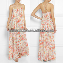 Fashion 2014 beautiful maxi dress, beach dress (NTF04119)