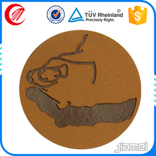 Custom laser leather shape embossed leather sofa patches