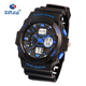New XINJIA Analog-Digital Quartz Wrist Watch 50M Waterproof Sports Watch Shock Stainless Steel Back TPU Strap Mens G Watch
