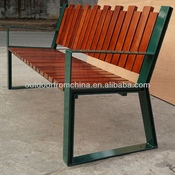 2013 Newest street furniture Strong steel frame/solid wood park bench/wooden seat pan outdoor bench/ outdoor bench