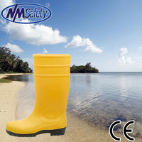 NMSAFETY design your own rain boots yellow rain boots with high length