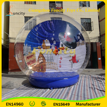 Outdoor decorations XMAS & halloween giant transparent inflatable snow globe,inflatable Christmas ball for parties and activity