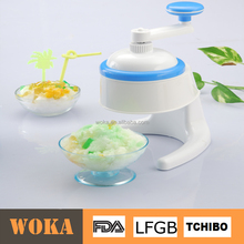 Crank Plastic Ice Crusher Snow Cone Machine Manual Ice Shaver with bowl