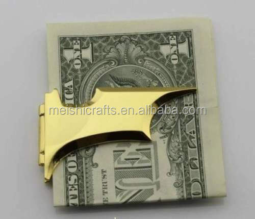 Matte Batman Money Clip Badge Magnetic Folding Gold With Gift Box