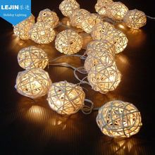 festive supplies Rattan ball led christmas string light for party