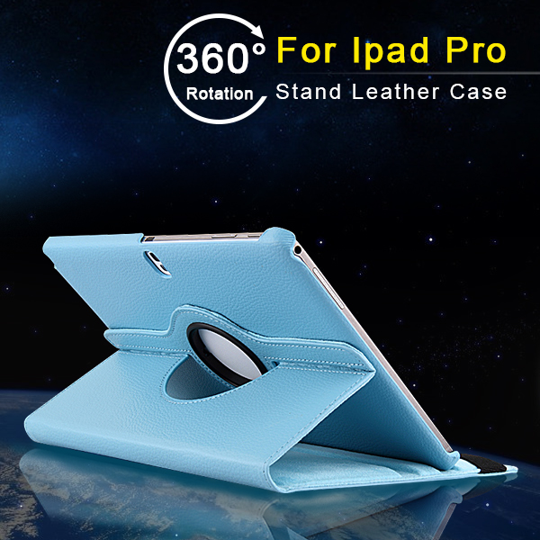 Hot Selling Vietnam Sky Blue Litchy Grain PU Leather Cover Men Style 9.7 Tablet PC Leather Case Bluetooth Keyboard for Ipad